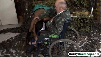 Crippled old guy fucks sexy young brunette nurseock-HI