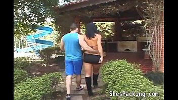 Wife caught me with a shemale Sexy shemale gets her ass fucked