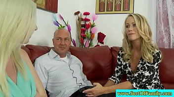 Mature couple seduce their stepdaughter