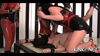 Hard double wazoo fisting and toy insertion for ready sub