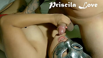 Priscila latina brunette takes out my milk and I put it in her mouth