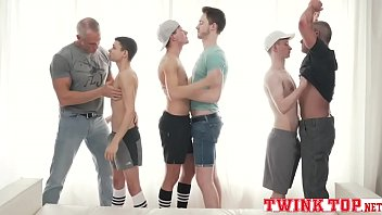 Twink and dad porn Boys and daddies hottest orgy old vs young bareback gangbang-twinktop.net