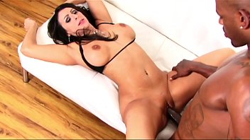 The landlady porno Rich hot brunette milf takes the big black cock of gardener with a creampie
