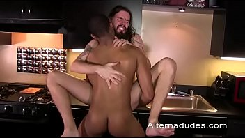 Long black gay penises - Rocker dude gets plunged