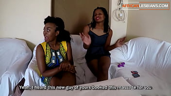 Busty Black Lesbian Gets First Time Massage