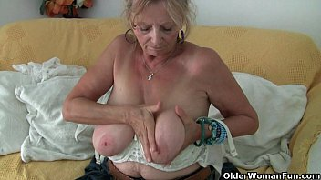 X grannies in pantyhose Big boobed granny isabel needs to get off in pantyhose