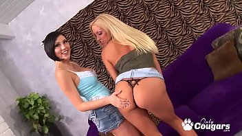 Young thong sex Cassie young and mindy main pleasure each others pussies