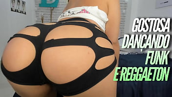 Hot big butt latina twerking and teasing dancing reggaeton with tight yoga transparent shorts, hot perreo and butt shaking here with a perfect blowjob