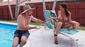 Gigantic Boobs MILF Alexis Fawx Charms Pool Boy
