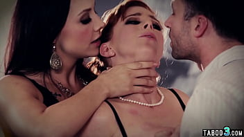 MILF Penny Pax double penetrated by husband and his mistress Chanel Preston