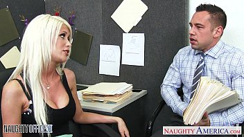 Naughty busty secretary Busty blonde riley jenner fucking in the office