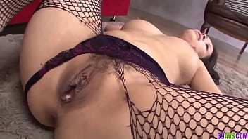 Fishnet nudity and hardcore glory for young Kyouko Maki - More at javhd.net