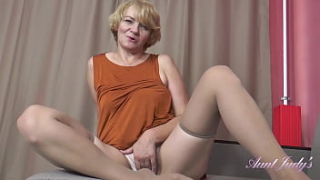 AuntJudys - 56yo Step-Auntie Aliona SUCKS YOUR COCK and JERKS YOU OFF