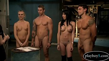 Four random people end up in jail and have a horny foursome