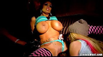 Sienna West and girlfriend Taylor Wane threesome with BBC