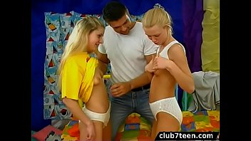 Hot teen threesome
