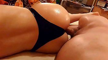 Latex ass tgp Me fucking my wifes big oiled ass in latex strings at home