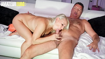 AMATEUR EURO - (Gina Blonde & Tom Cruiso) Teasing Cougar Lady Takes Her Hubby's Cock On First Porn Photoshoot Ever