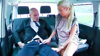 FUCKED IN TRAFFIC - Sultry Czech blondie gets fucked and cum covered in hot car sex
