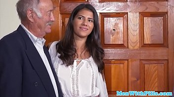 Busty latina pussyfucked by a senior