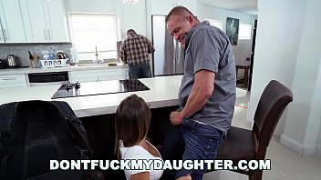 Don't Fuck My Daughter - Teen Layla London Can't Keep Her Eye's Off Daddy's Friend