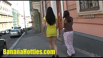 Tanned girlfreind naked She shows her naked body at the public street