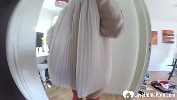 Mesmerizing babysitter interviews with a solo session 4 min