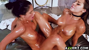 Sexy Agust and Madison enjoy a in a lesbian massage