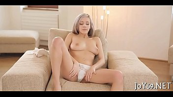 Solo angel inserts toy in pussy