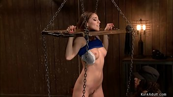 Slut is a. in device bondage
