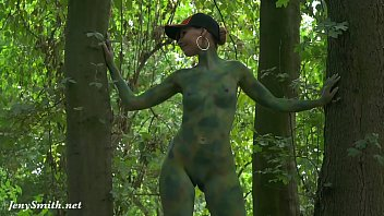 Invisible nakedness in the city. Body Art with public nude by Jeny Smith porn thumbnail