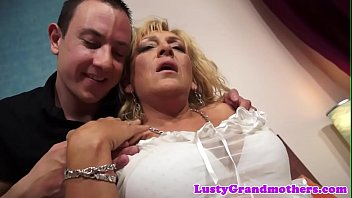 Busty european granny doggystyled after bj