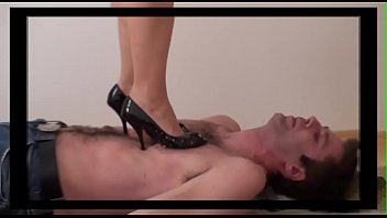 Femdom Ladies tramples slaves with shoes