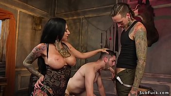 Alt dominant couple tormented slave