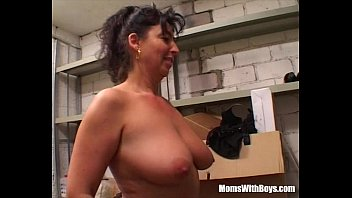 Busty Mature Lady Fucked In The Storage Room