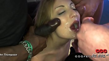 Gangbang cumswallow Slut gets cums mouthing and bukkakes
