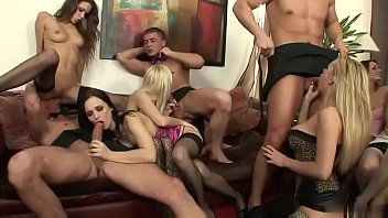 Hot chics get an orgasmic drilling in an orgy