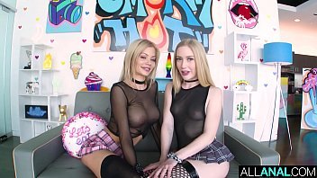 ALL ANAL ATM threesome with blondes Riley and Emma