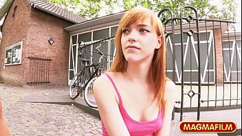 Picking up a Natural Redhead Teen for easy cash