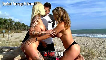 Trailer : Hot exhibiting threesome at the beach