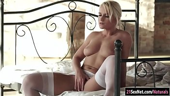 Busty Rossella Visconti masturbate with toy and rides a cock