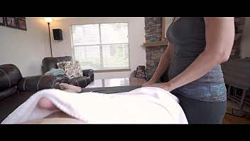 Hot MOM's Massage For Daughter's Big Dick BOYFRIEND - P2 - WCA Productions POV - Cheating Wife can't keep her eyes off his big white cock as he masturbates in front of her
