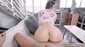 Busty stepmom has some problems with her sex addiction