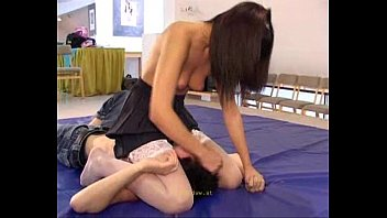 facesit panty wrestle - free full videos www.redhotsubmission.com