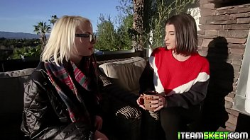 Lesbians bodies spasm in pleasure from the sensation coming from each other! thumbnail