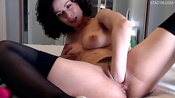 Passionate Brunette Fuck Herself With A Dragon Dildo & Gets An Orgasm
