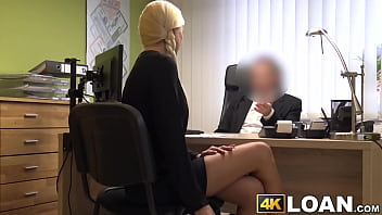 Blonde beauty drilled missionary style for the money loan 8 min