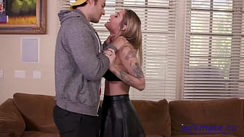 Kleio Valentien Wants It Rough And Get Its Rough In the Ass Followed by Big Cumshot on Her Face