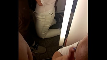 sucking in the dressing room