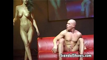 Live stage show nudes Busty striper takes a cock from behind